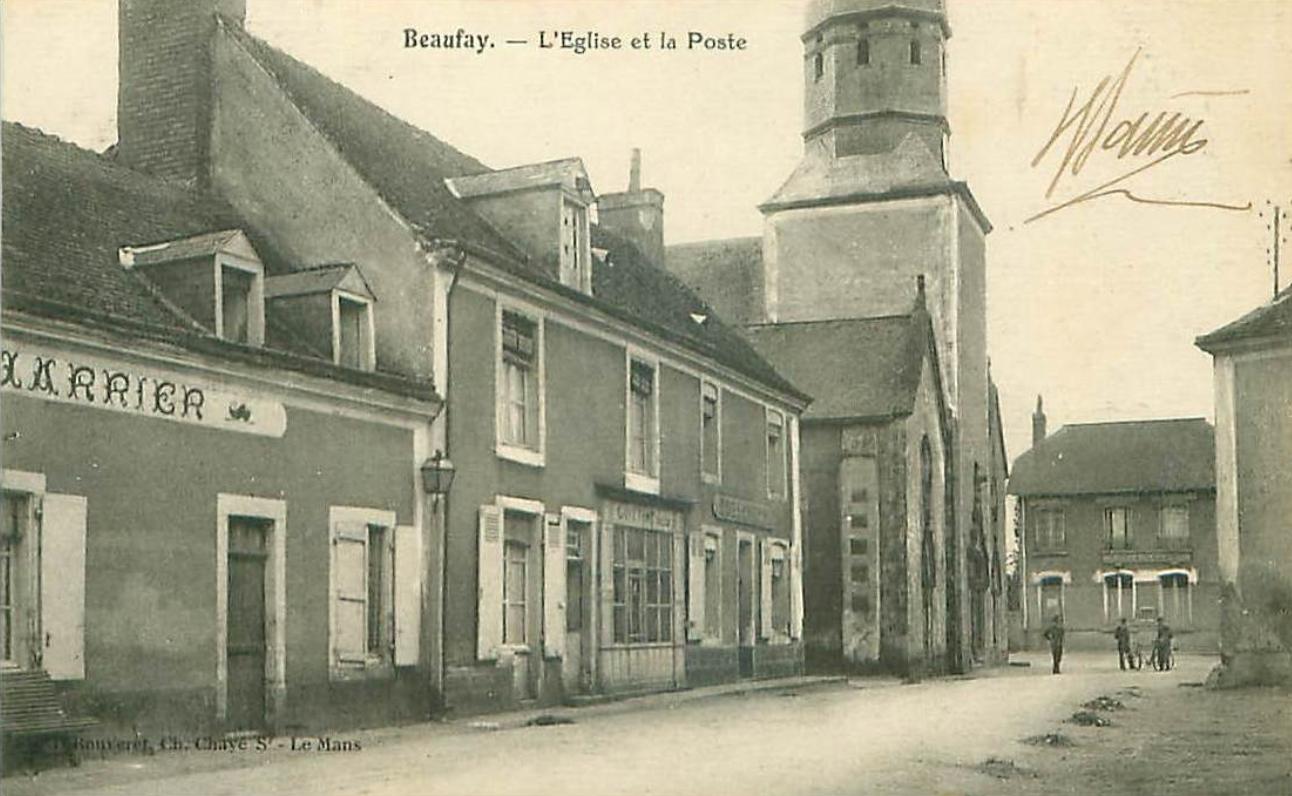 Beaufay - L'Eglise et la Poste