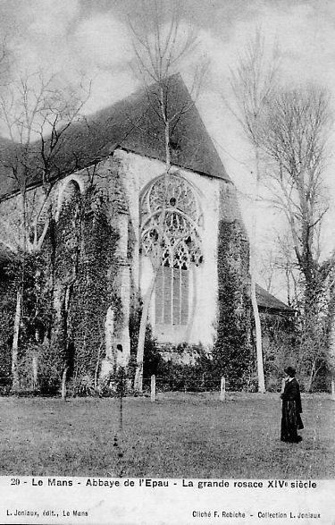 Le Mans - Abbaye de l'Epau - La grande rosace XIV siècle