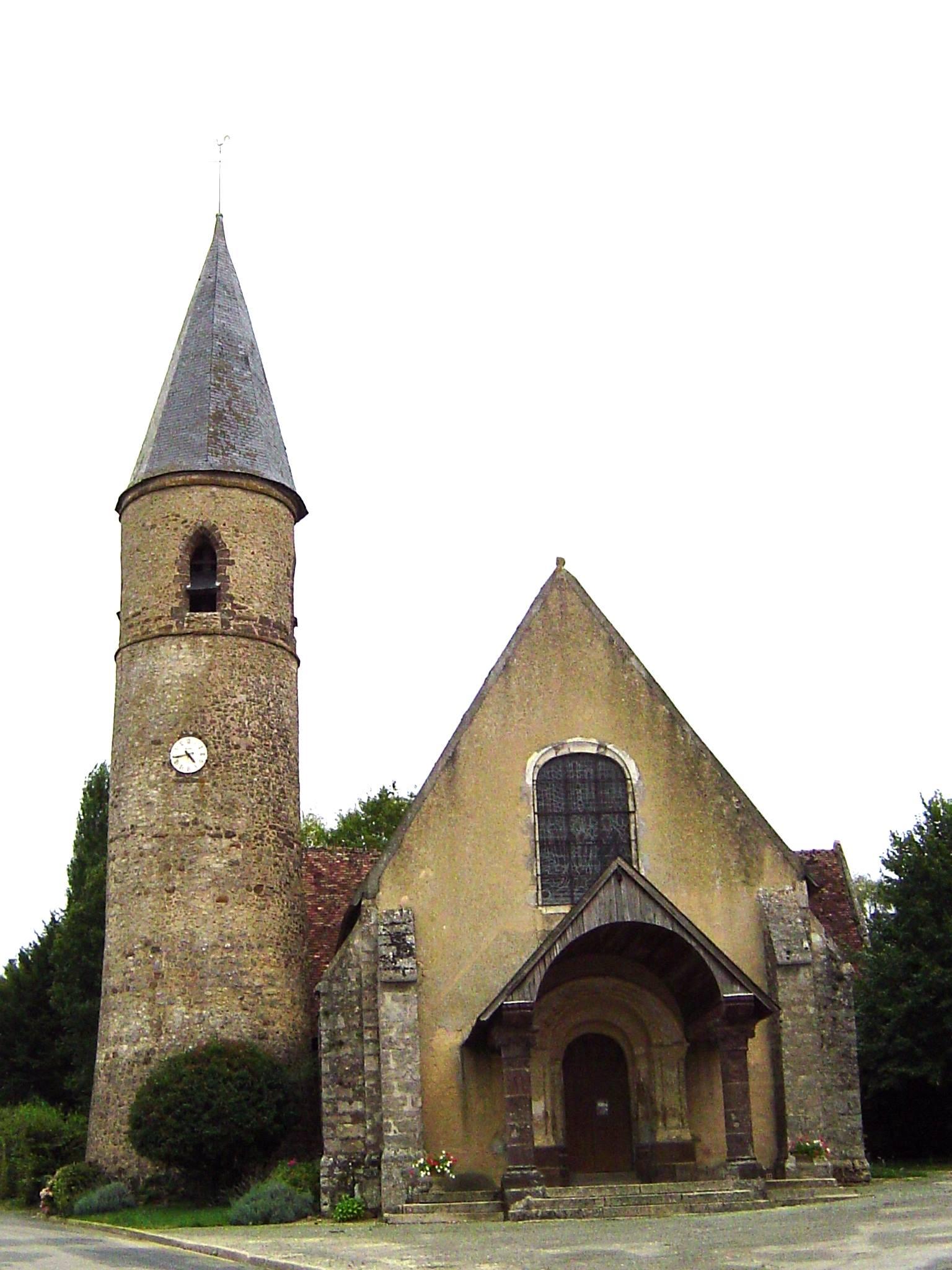Saint Germain sur Sarthe - Saint Germain de la Coudre jusqu'en 1952 - Eglise Saint Germain (Camille Chauvet)