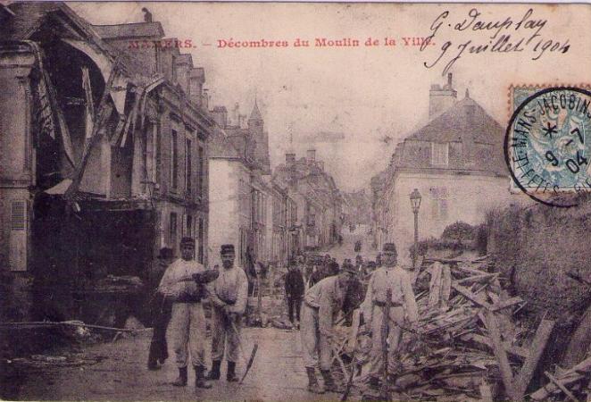 Mamers - Décombres du Moulin de la Ville