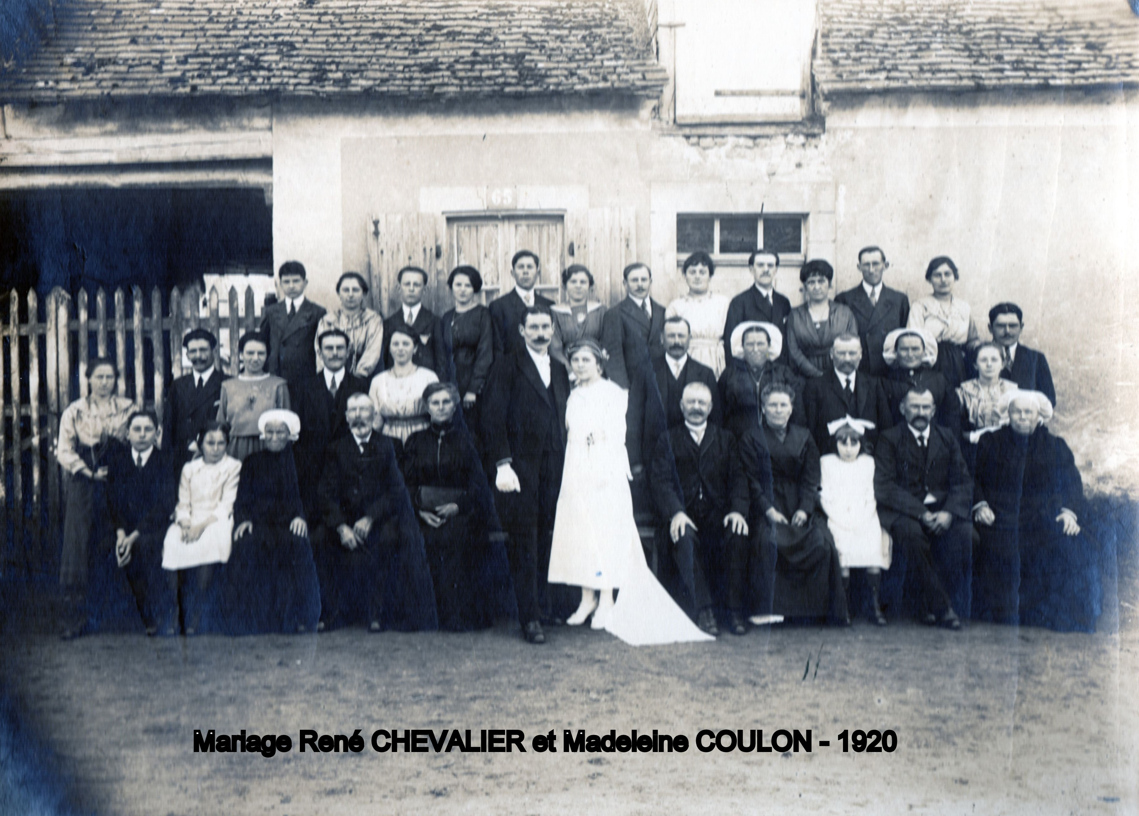 Bonnétable CHEVALIER  Adrien René et COULON  Madeleine 1920 Chevalier Rose