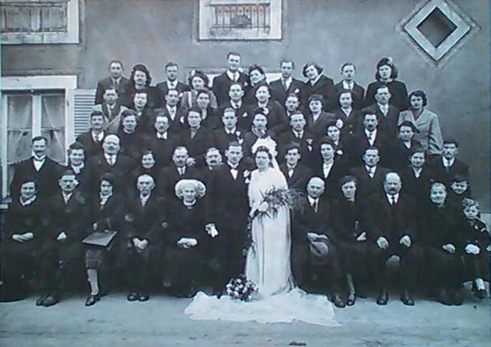 Courcemont - Mariage - BERGEOT Aimé et DAVID Madeleine - 7 janvier 1946 - Vue 01 (Gisèle Guegan)