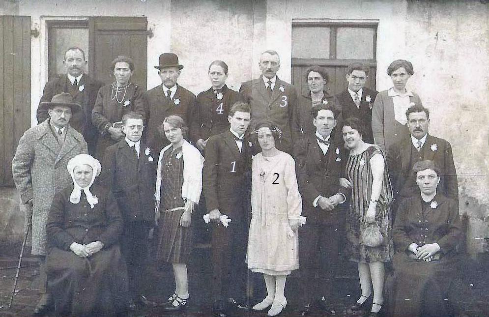 La Bazoge - Mariage - DELOCHE Henri et PESCHARD Geneviève - 22 janvier 1927 - Vue 01 (Jérémy Peschard)