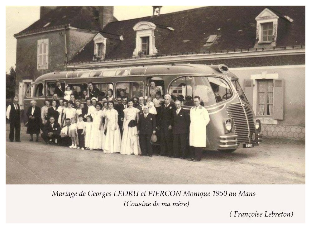 Le Mans - Mariage - LEDRU Georges et PIERCON Monique - 1950 (Françoise Lebreton)