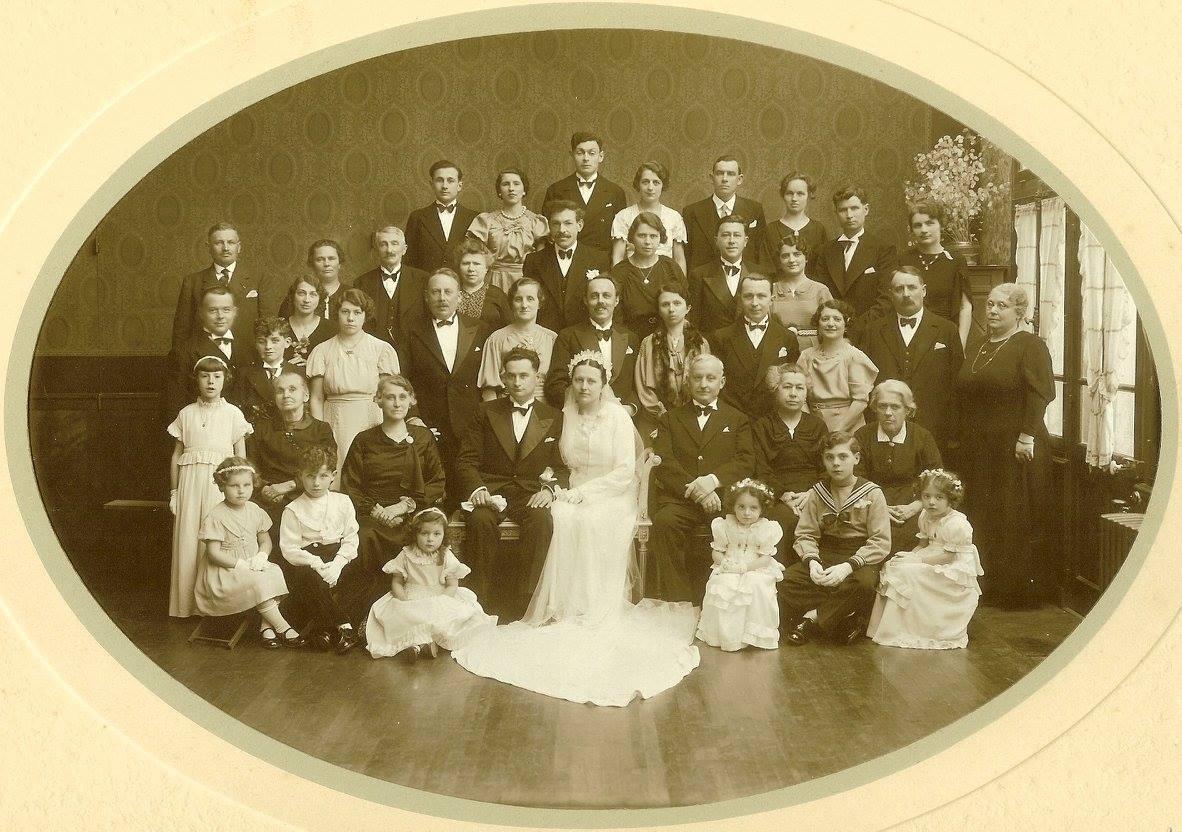 Montfort le Rotrou - Mariage - CHARLOT Robert et AUFRAY Henriette - 14 avril 1936 - Vue 01 (And Char)