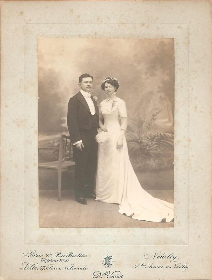 Rouessé Vassé - Mariage - DESALAY Edouard et PELTIER Augustine - 25 avril 1905 - Vue 01 (Sabine Charles)