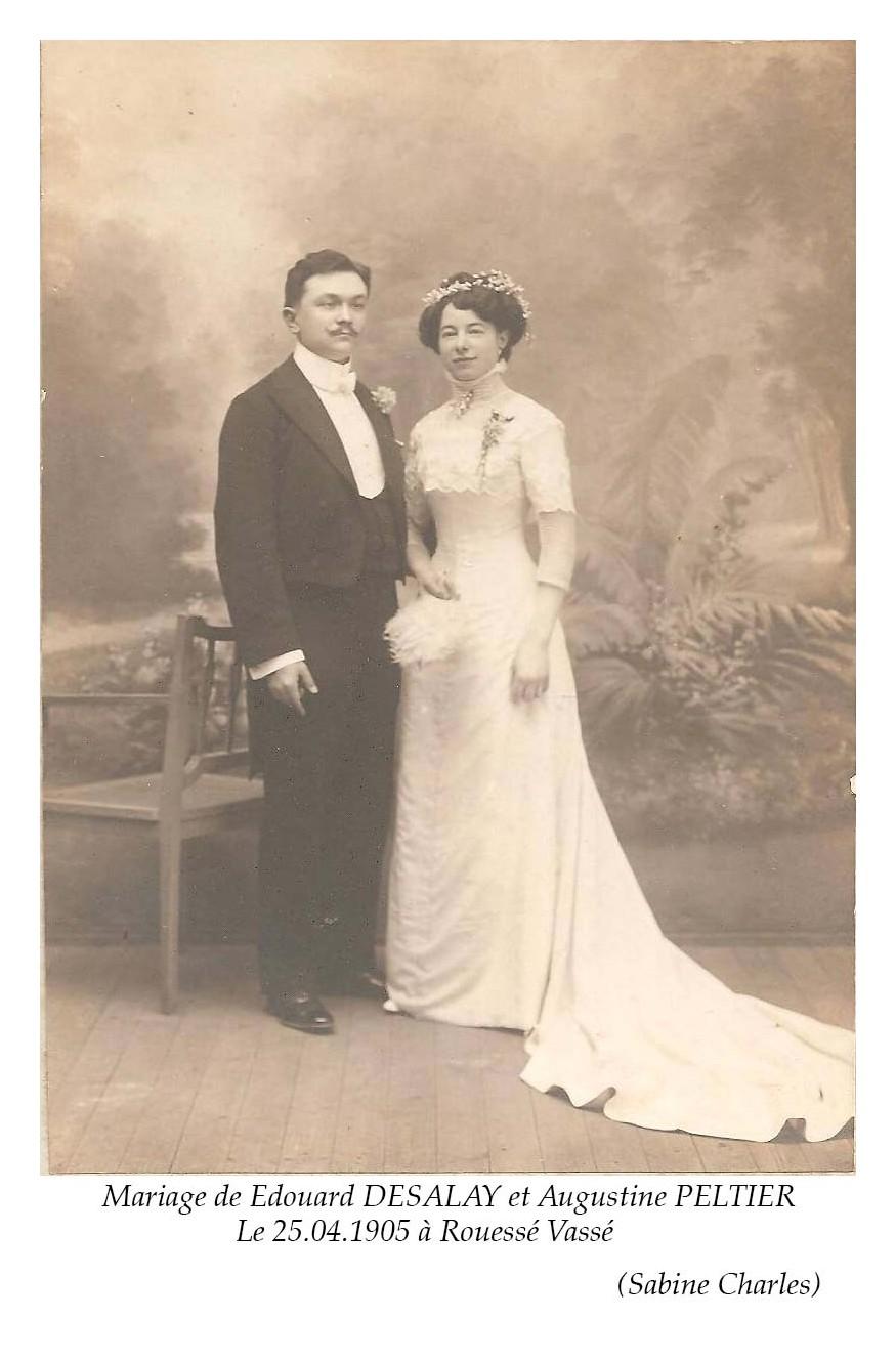 Rouessé Vassé - Mariage - DESALAY Edouard et PELTIER Augustine - 25 avril 1905 - Vue 02 (Sabine Charles)