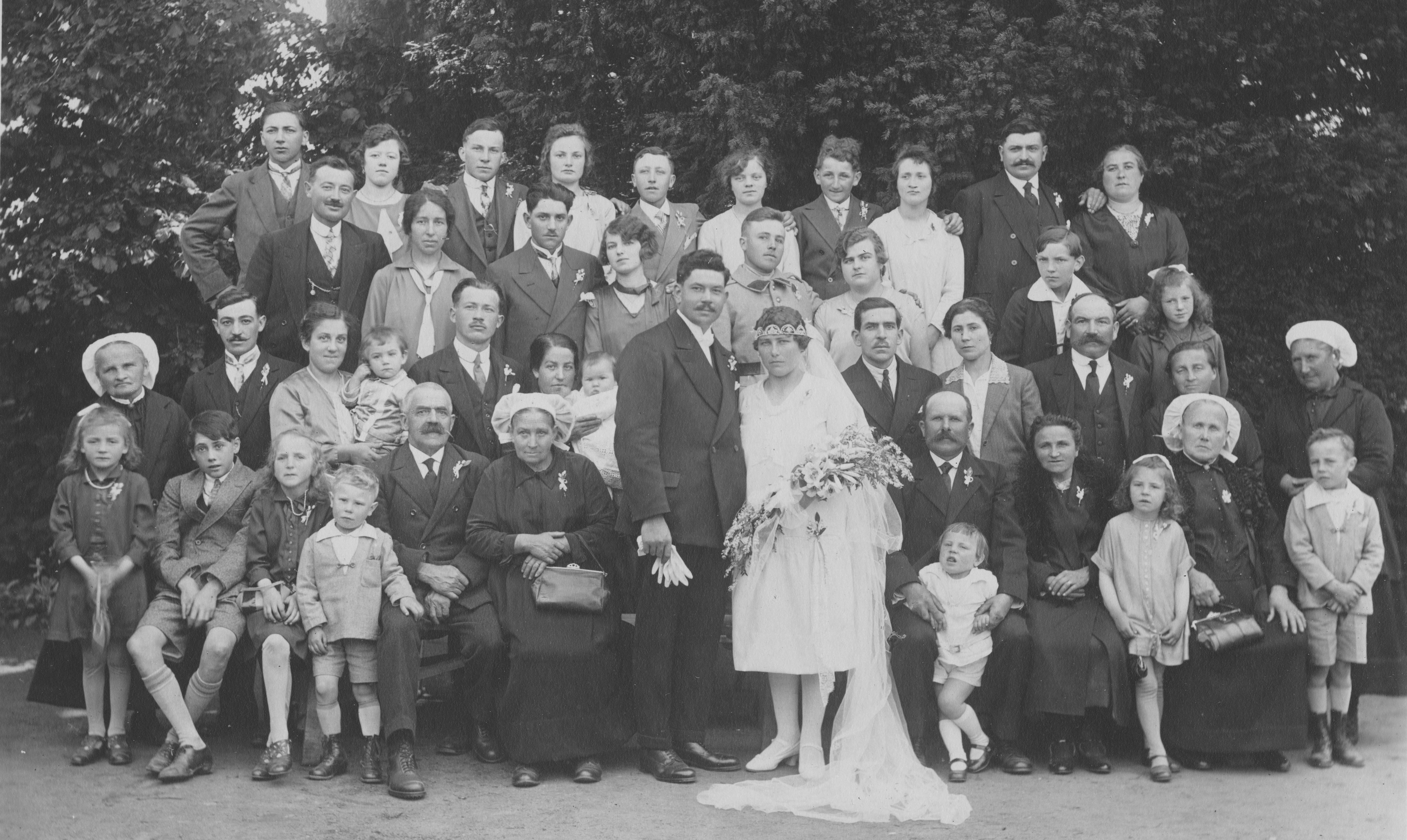 Ruillé en Champagne - JOLIVET Gaston et POIVET Noémie 9 Juillet 1929 Vue 01 Daniel Jolivet