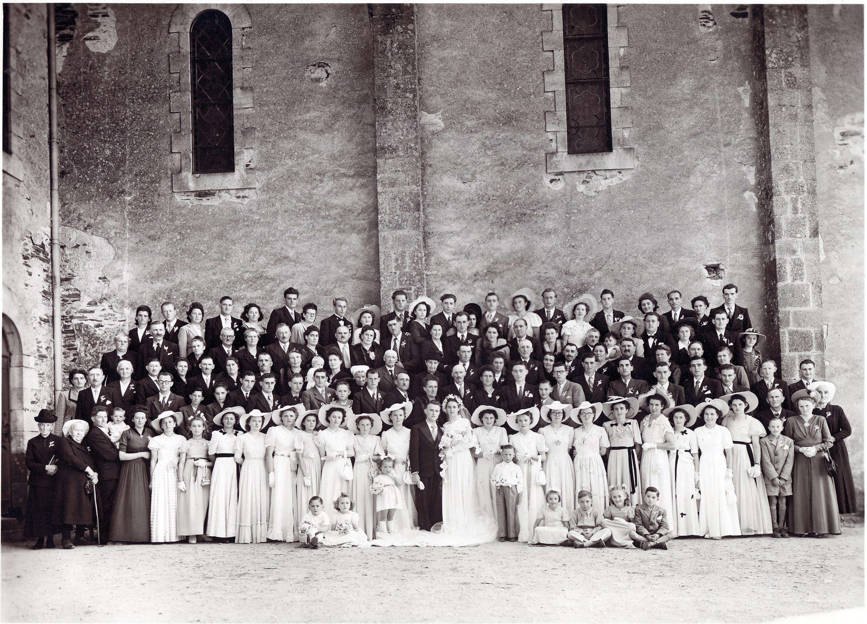 Saint Germain de Coulamers JARDIN Christian et DELALANDE Alice 1947 -1950 Vue 01 Patrice Rayon-
