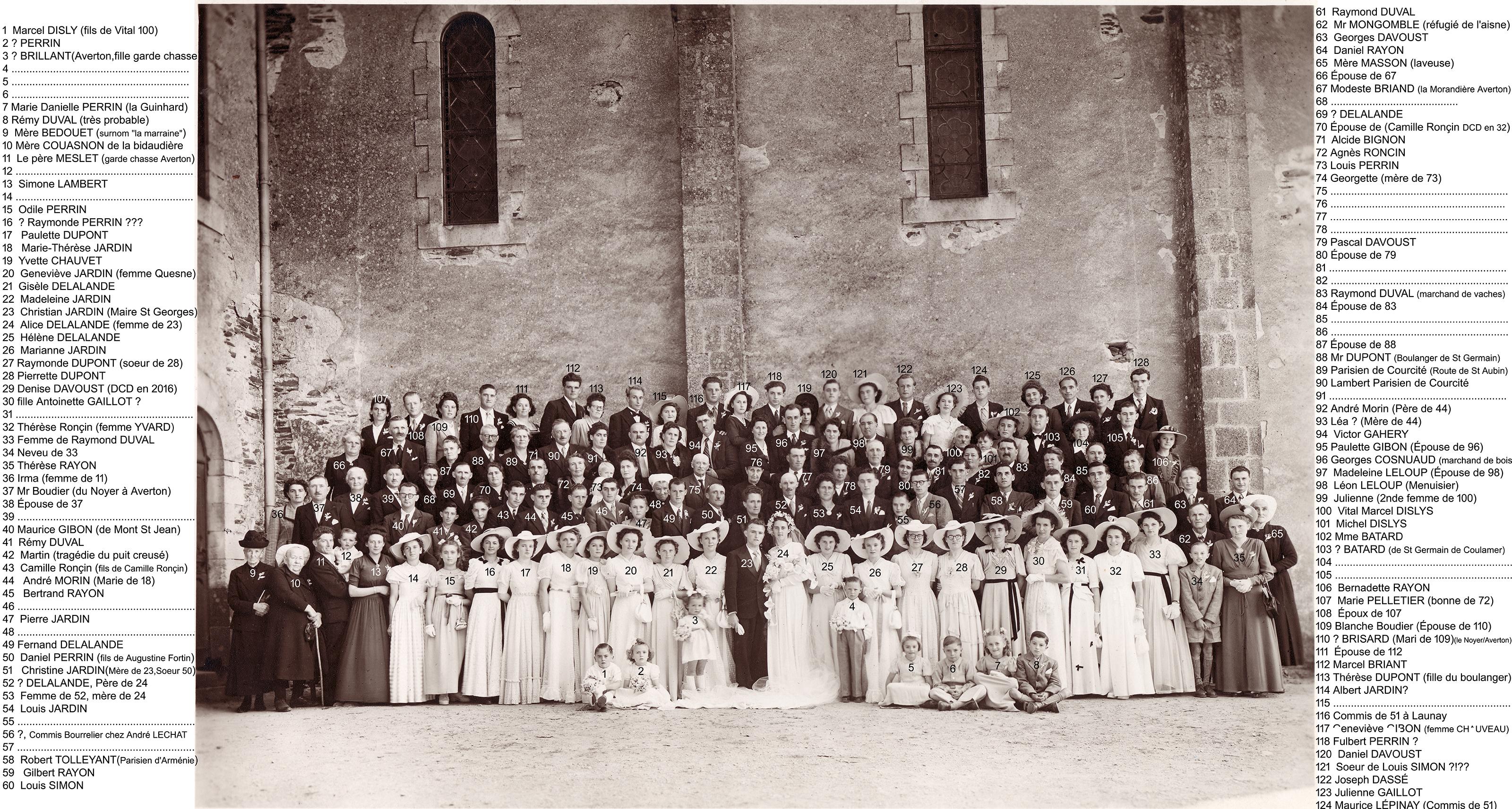 Saint Germain de Coulamers JARDIN Christian et DELALANDE Alice 1947 -1950 Vue 02 Patrice Rayon-