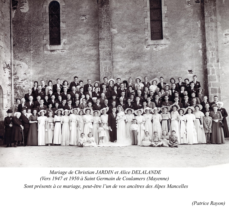 Saint Germain de Coulamers JARDIN Christian et DELALANDE Alice 1947 -1950 Vue 03 Patrice Rayon-