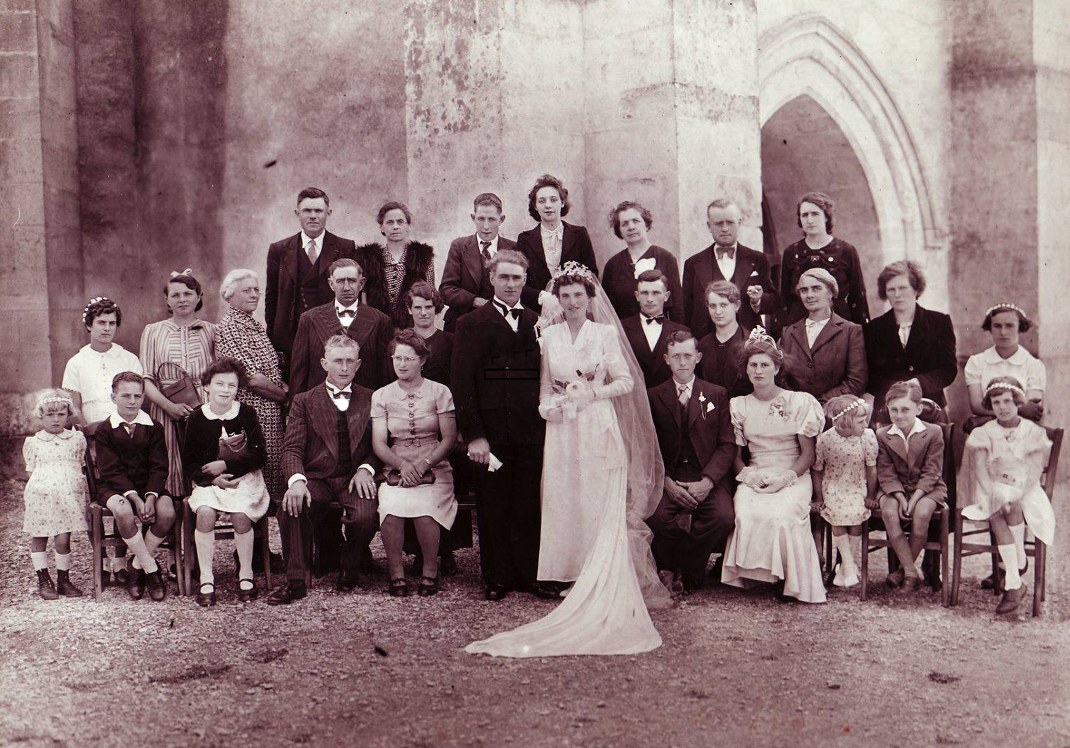 Saint Vincent des Prés - Mariage - FAGOT Georges et FLORIN - 22 août 1942 - Vue 01 (Nathalie Fagot)