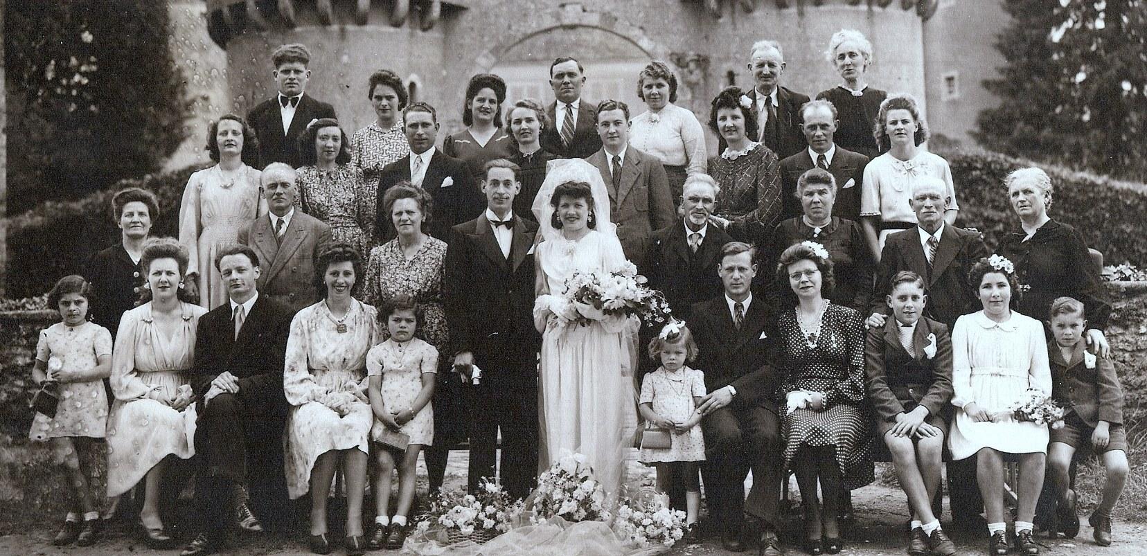 Semur en Vallon - Mariage - ROGERIE André et MINIER Olga - 1945 - Vue 01 (Michel Rogerie)