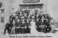 Auvers sous Montfaucon - Mariage - FISSON Louis, Maxime et LEBRUN Nathalie - 23 Juin 1914 - Vue 01 (Sylvie Leveau)