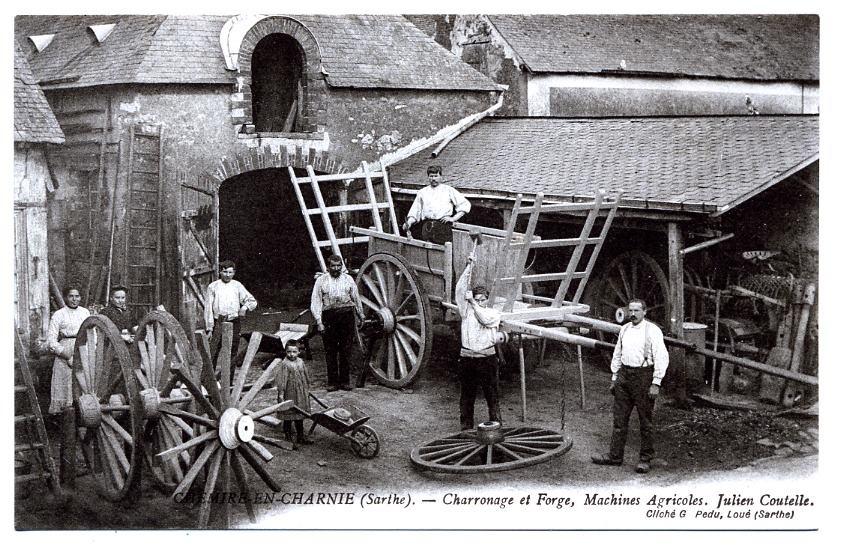 Chemiré en Charnie - Au quotidien - Métiers - Charronage et Forge, Machines Agricoles