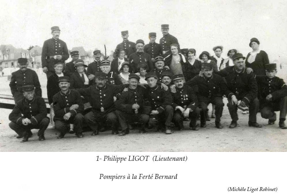 La Ferté Bernard - Au quotidien - Métiers - LIGOT Philippe, pompier (Michèle Ligot Robinet)