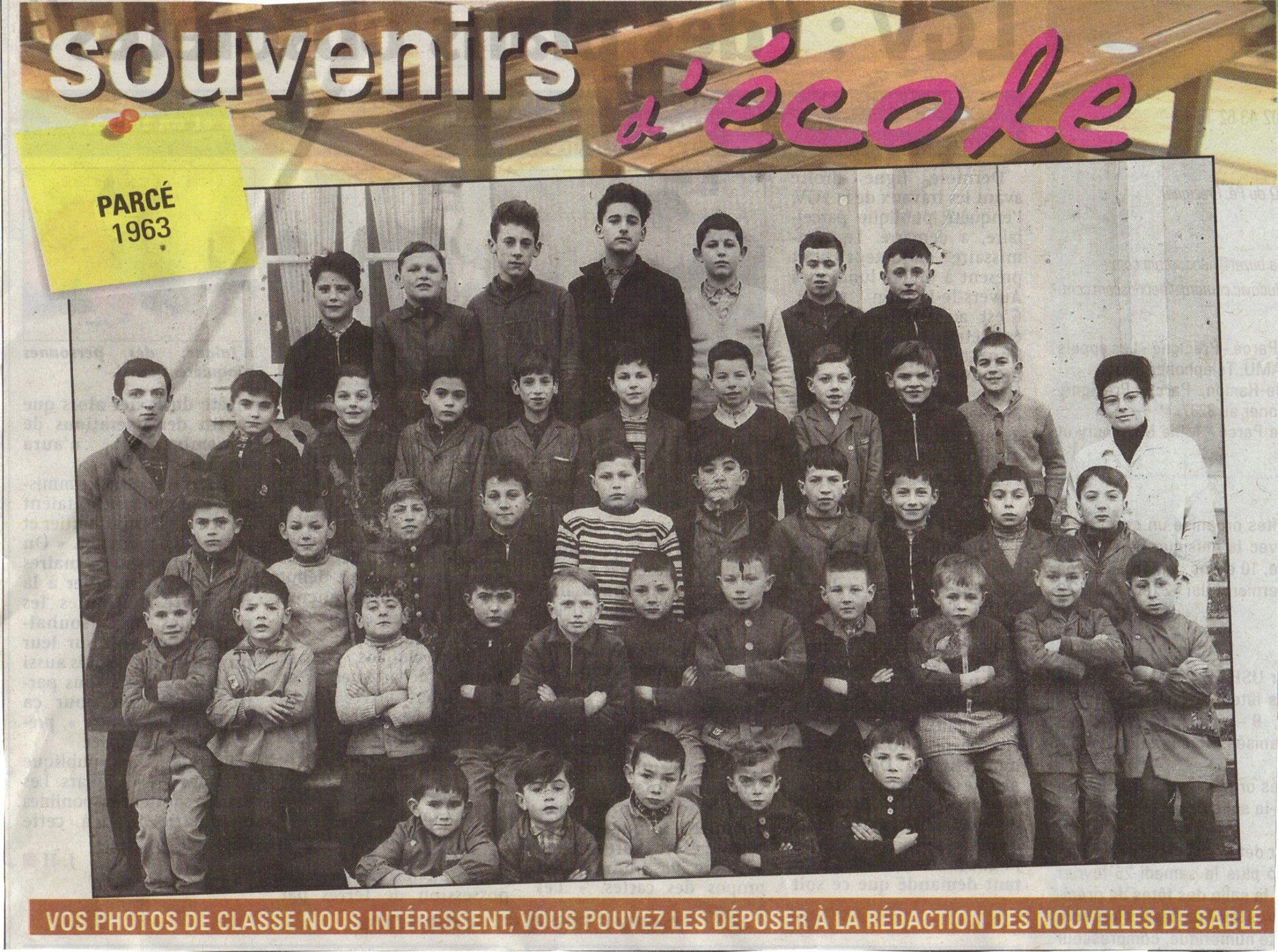 Parcé sur Sarthe - Groupes - Photos de classe - 1963
