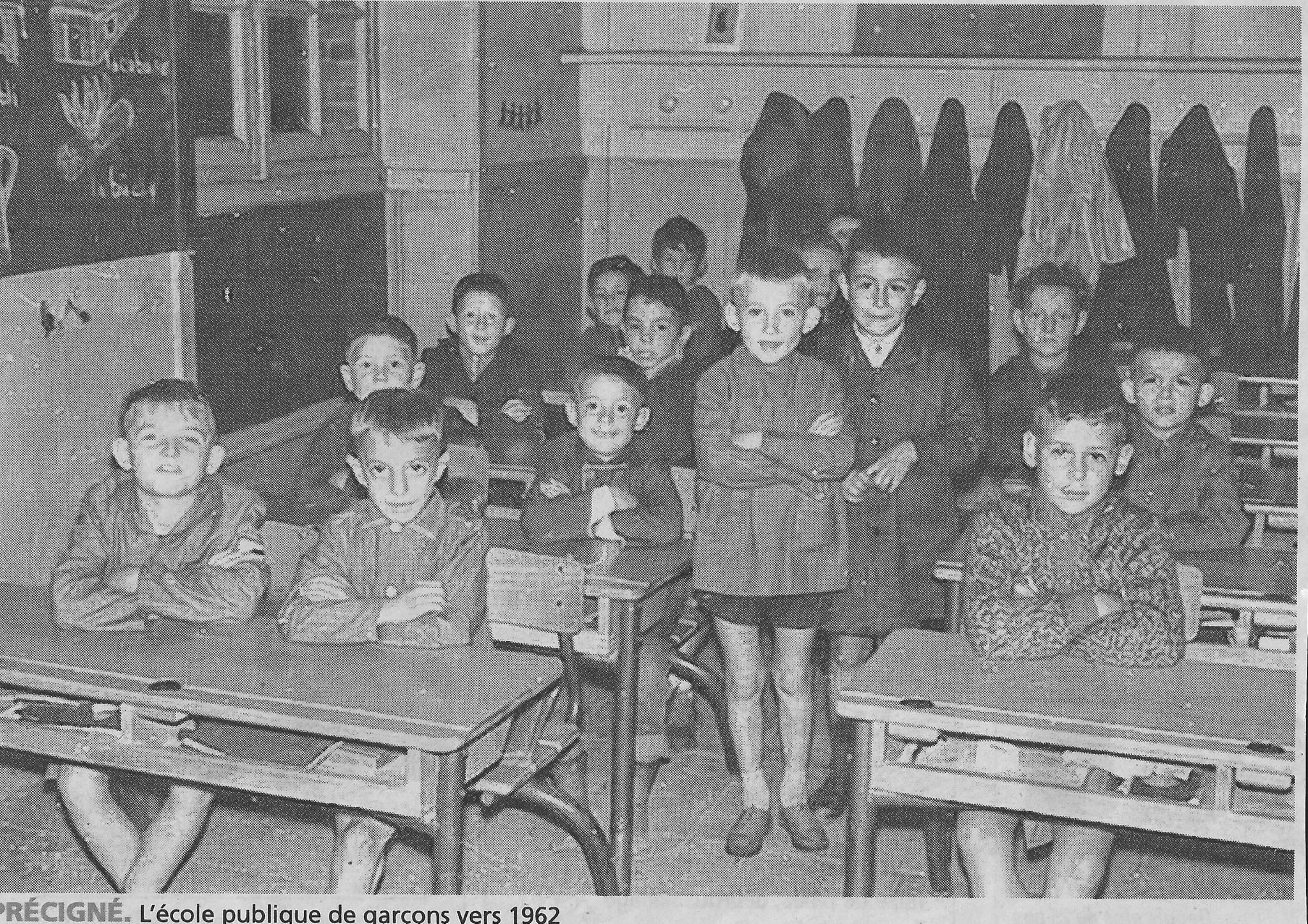 Précigné - Groupes - Photos de classe - Ecole publique de garçons - Vers 1962