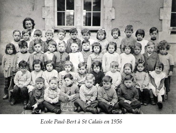 Saint Calais - Groupes - Photos de classe - Ecole Paul Bert - 1956 (Sylvie Leveau)