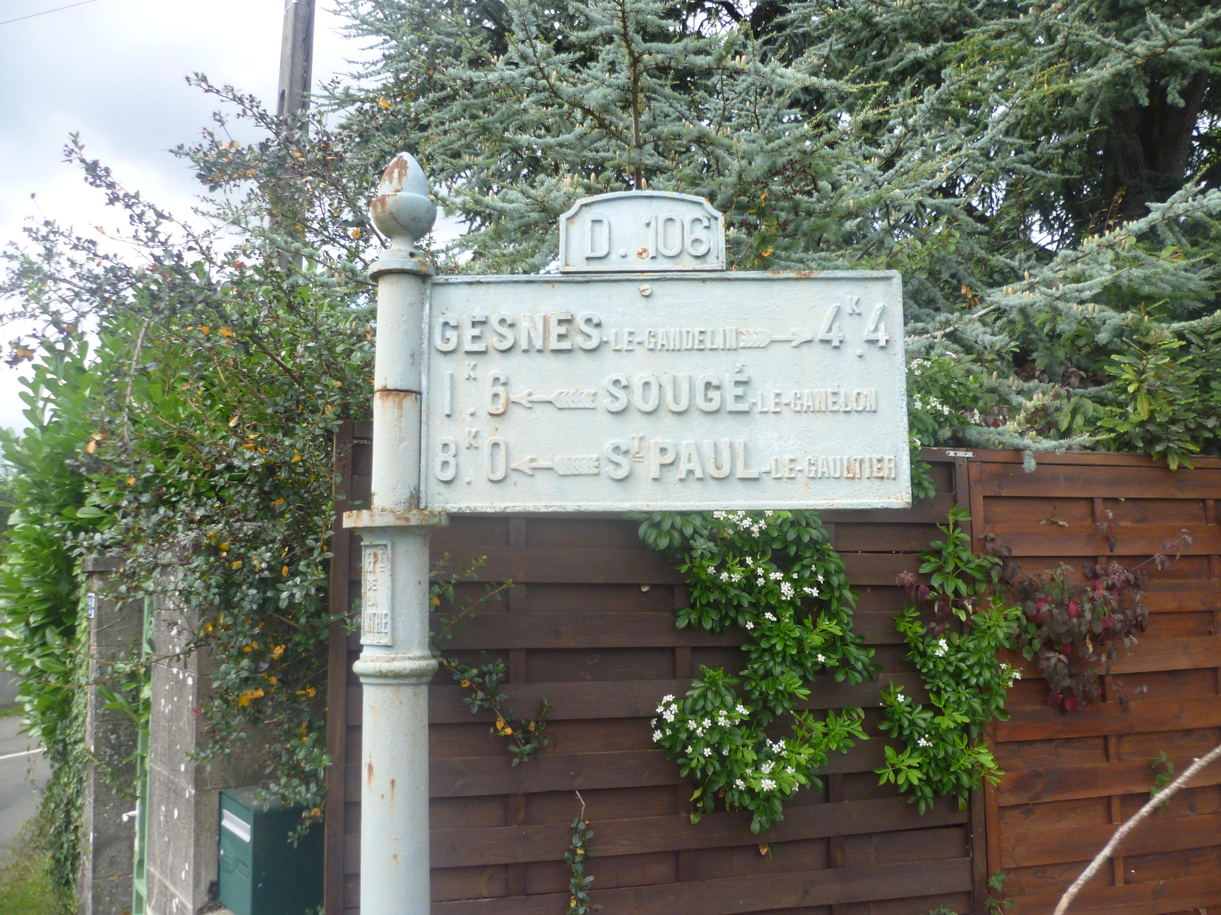 Assé le Boisne, rue de Bois Frou - Plaque de cocher - Gesnes le Gandelin - Sougé le Ganelon - Saint Paul le Gaultier (Gwéna Tireau)