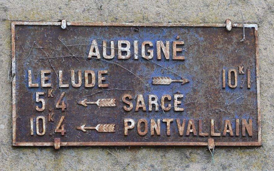 Aubigné Racan - Plaque de cocher - Le Lude - Sarcé - Pontvallain (San Doni)