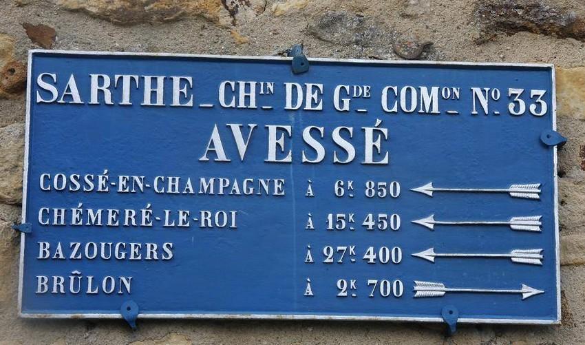 Avessé - Plaque de cocher - Cossé en Champagne - Chémeré le Roi - Bazougers - Brûlon (Christophe Oustalet)