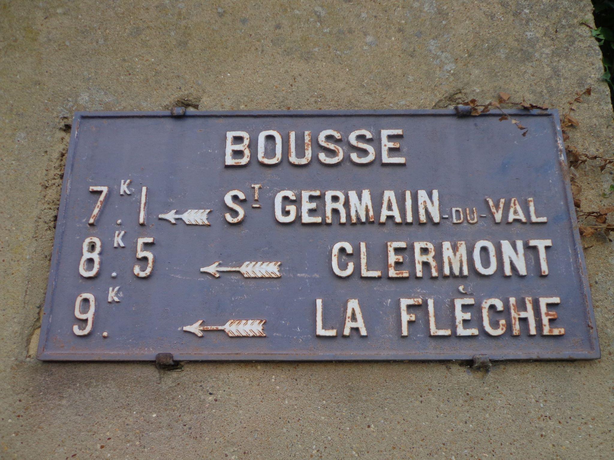 Bousse - Plaque de cocher - Saint German du Val - Clermont - La Flèche (Marie-Yvonne Mersanne)