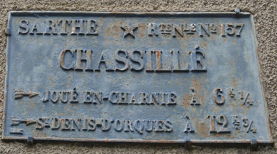 Chassillé - Plaque de cocher - Joué en Charnie - Saint Denis d'Orques (Sylvie Leveau)