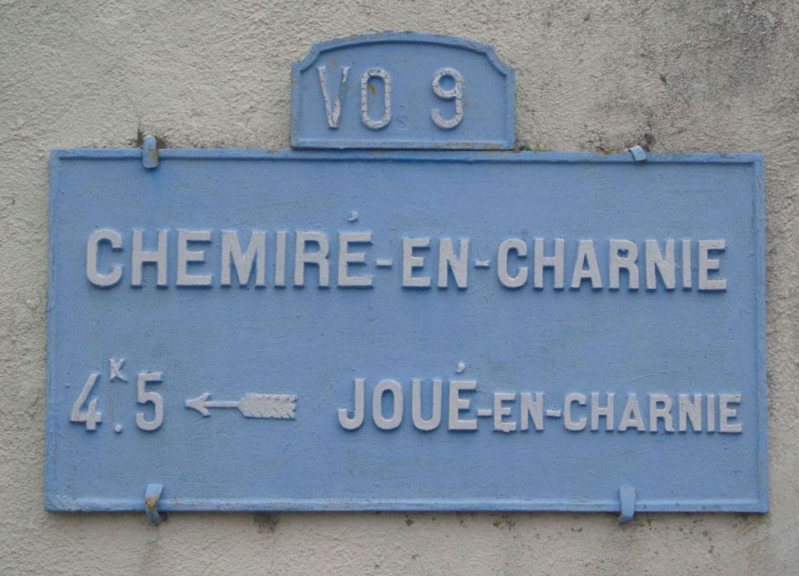 Chemiré en Charnie - Plaque de cocher - Joué en Charnie (Marie-Yvonne Mersanne)