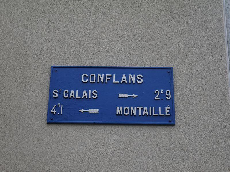 Conflans sur Anille - Plaque de cocher - Saint Calais - Montaillé (Source Internet, Simon de l'Ouest)