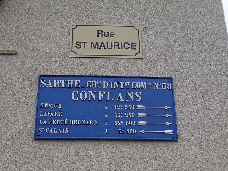 Conflans sur Anille - Plaque de cocher - Semur - Lavaré - La Ferté Bernard - Saint Calais (Source Internet, Simon de l'Ouest)