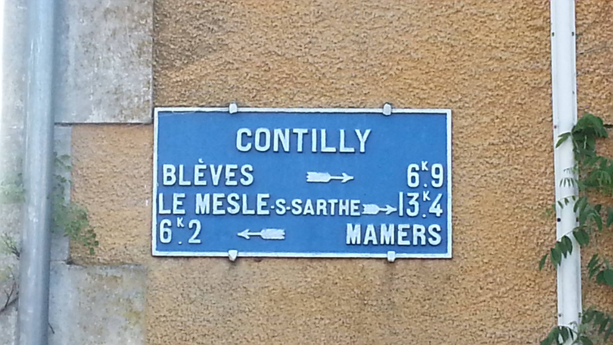 Contilly - Plaque de cocher - Blèves - Le Mesle sur Sarthe - Mamers (Fabienne Germain)