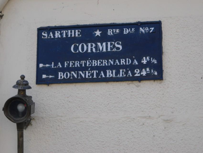 Cormes - Plaque de cocher - La Ferté Bernard - Bonnétable (Luc Lefray)