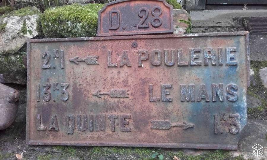 Degré, lieu dit La Gourdaine sur la D28 - Plaque de cocher - La Poulerie - Le Mans - La Quinte (Sylvine Deramaix Vitry)