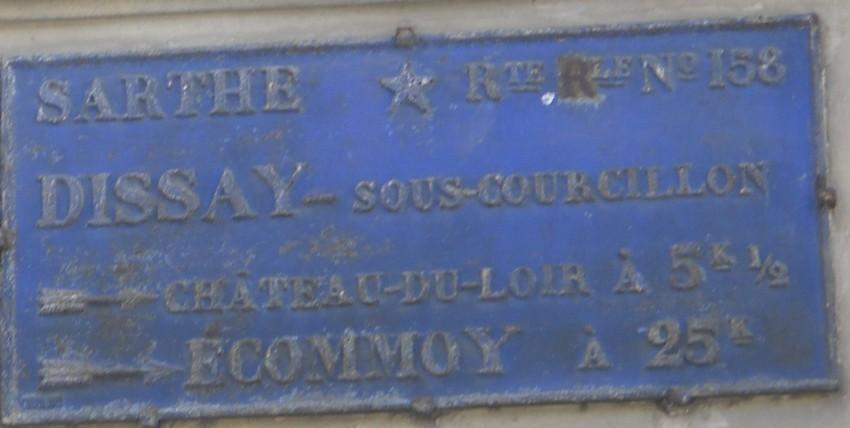 Dissay sous Courcillon - Plaque de cocher - Château du Loir - Ecommoy (San Doni)