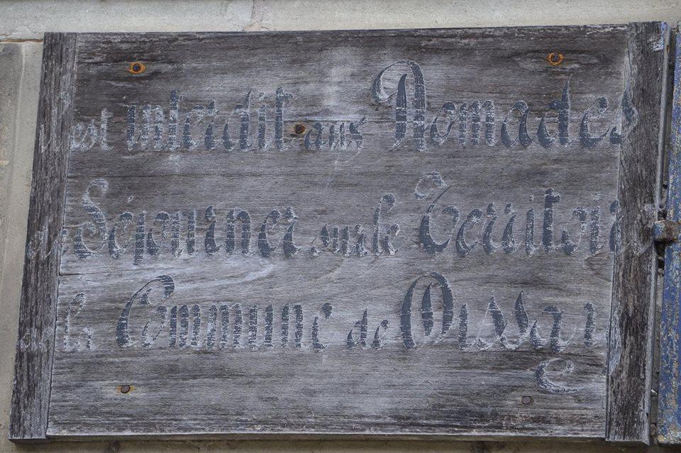 Dissay sous Courcillon - Plaque de cocher - Il est interdit aux Nomades de Séjourner sur le Territoire de la Commune de Dissay (San Doni)