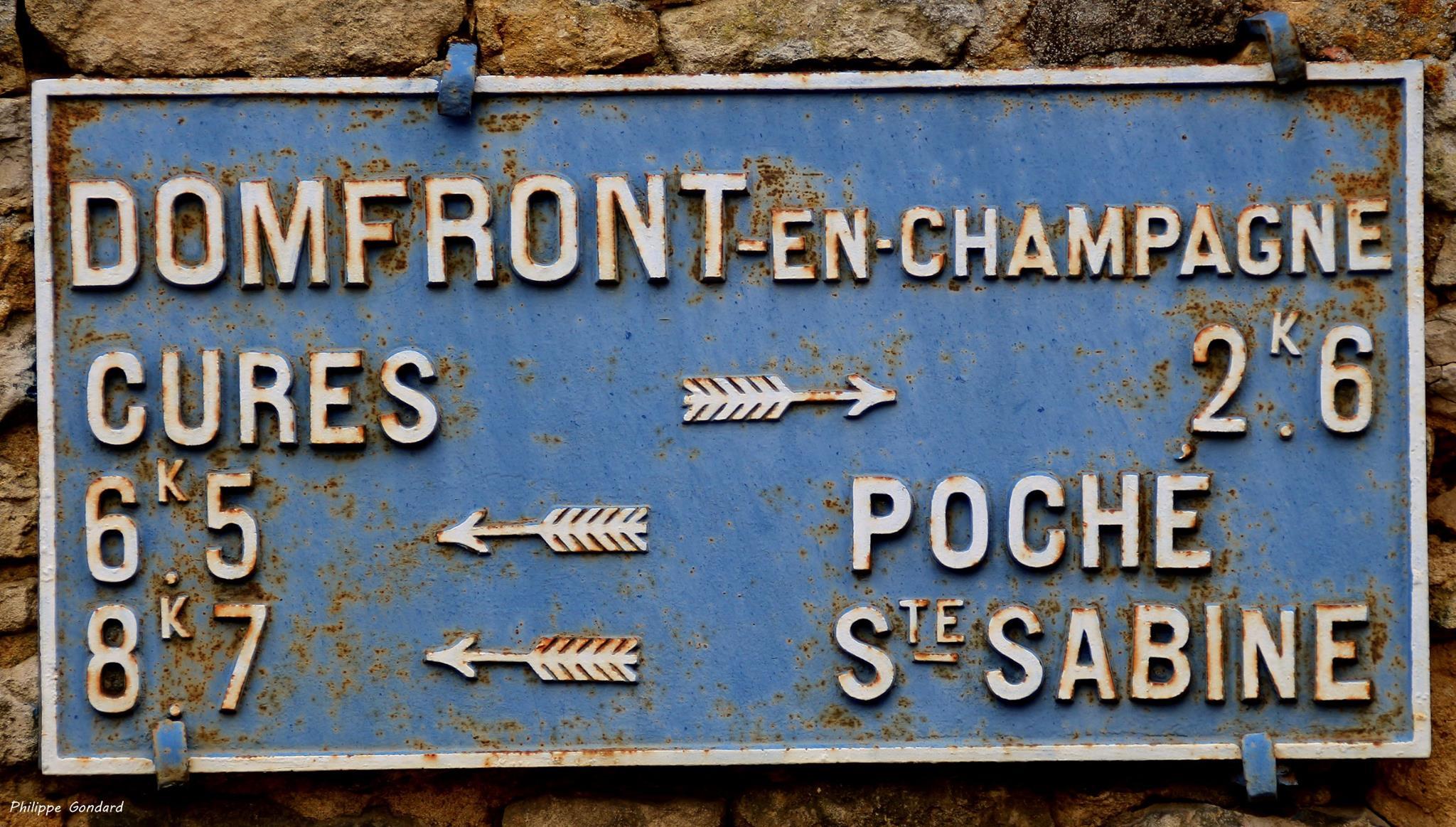Domfront en Champagne - Plaque de cocher - Cures - Poche - Sainte Sabine (Philippe Gondard)