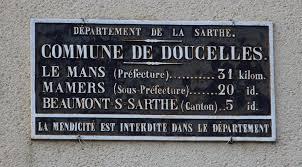 Doucelles - Plaque de cocher - Le Mans - Mamers - Beaumont sur Sarthe (Alain Petitfils)