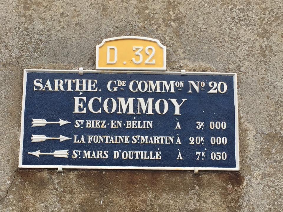 Ecommoy - Plaque de cocher - Saint Biez en Belin - La Fontaine Saint Martin - Saint Mars d'Outillé (David Esnault-Quint)