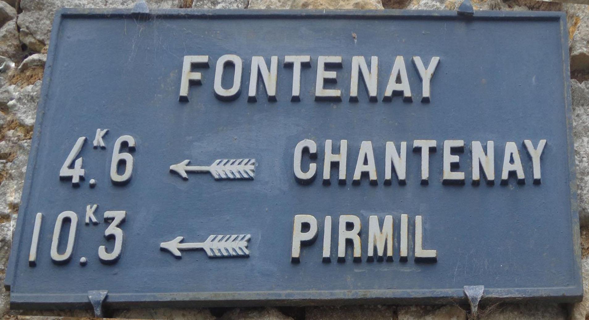 Fontenay sur Vègre - Plaque de cocher - Chantenay - Pirmil (Marie-Yvonne Mersanne)