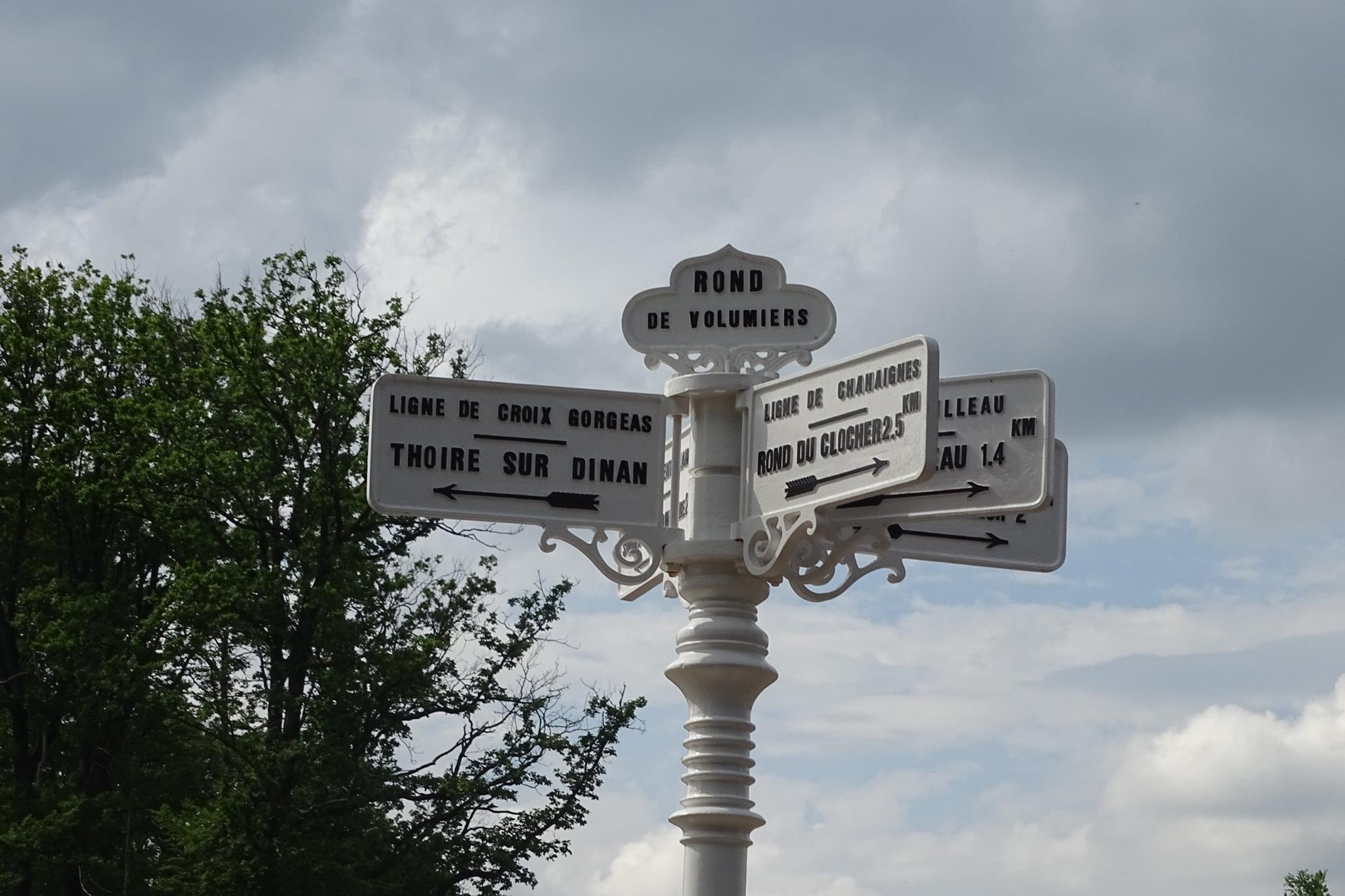 Forêt de Bercé - Plaque de cocher - Rond de Volumiers - Ligne de Croix Gorgeas - Thoiré sur Dinan - Ligne de Chahaignes - Rond du Clocher (Marie-Yvonne Mersanne)