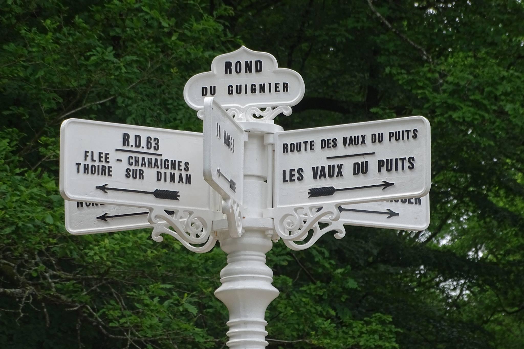 Forêt de Bercé - Plaque de cocher - Rond du Guignier - Flée - Chahaignes - Thoiré sur Dinan - Les Vaux du Puits (Marie-Yvonne Mersanne)