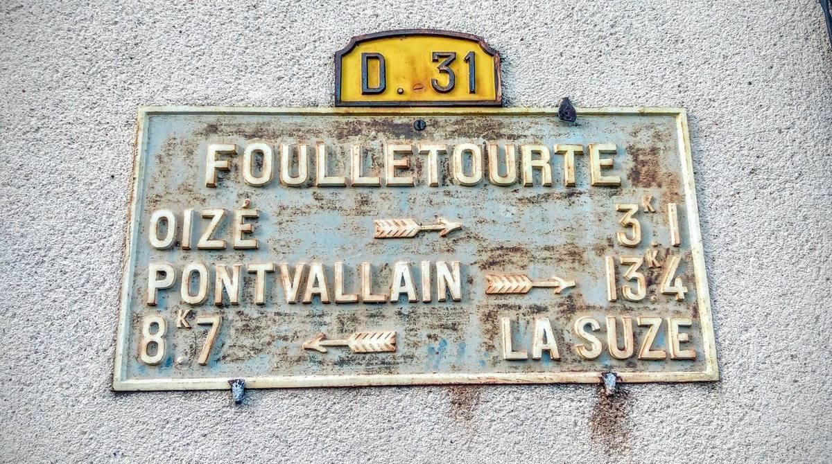 Foulletourte - Plaque de cocher - Oizé - Pontvallain - La Suze (Véronique Foulon-Légère)