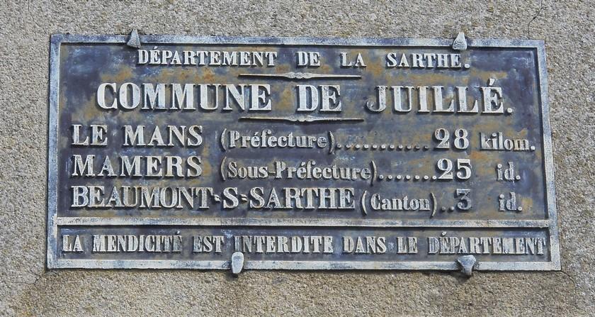 Juillé - Plaque de cocher - Le Mans - Mamers - Beaumont sur Sarthe (Fabien Demeules)