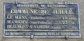 Juillé - Plaque de cocher - Le Mans - Mamers - Beaumont sur Sarthe (Marie-Yvonne Mersanne)