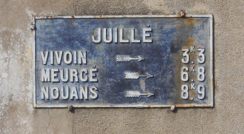 Juillé - Plaque de cocher - Vivoin - Meurcé - Nouans (Fabien Demeules)