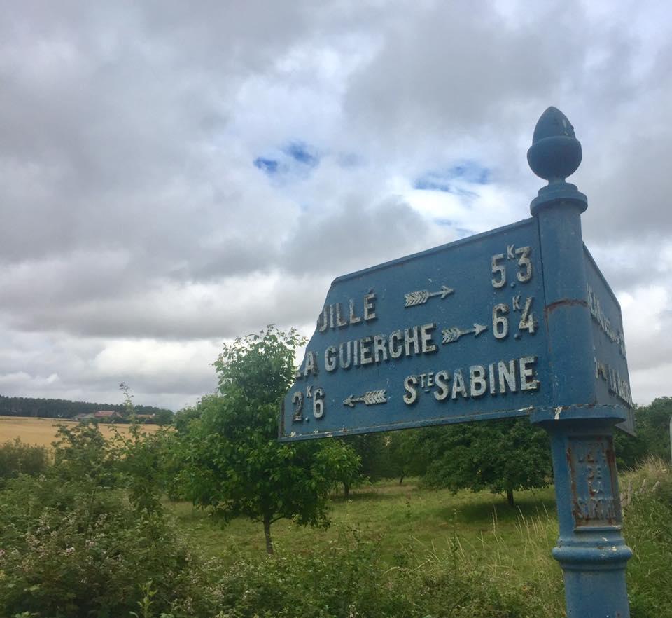 La Bazoge, lieu dit La Bouglerie sur la D161 - Plaque de cocher - Souillé - La Guierche - Sainte Sabine (David Esnault-Quint)