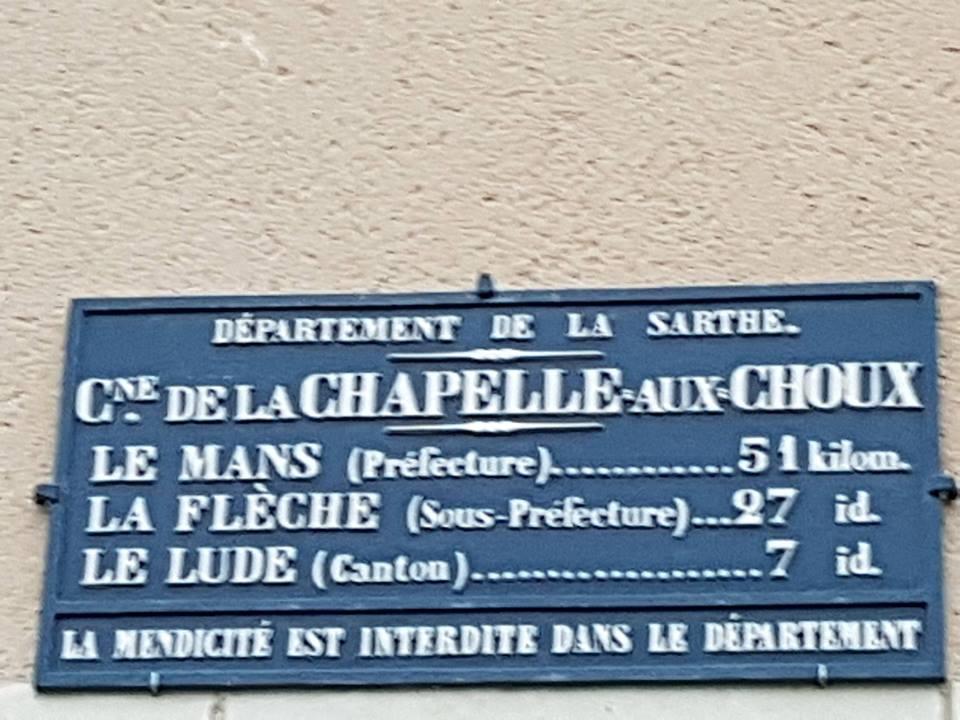 La Chapelle aux Choux - Plaque de cocher - Le Mans - La Flèche - Le Lude (Sylvie Leveau)