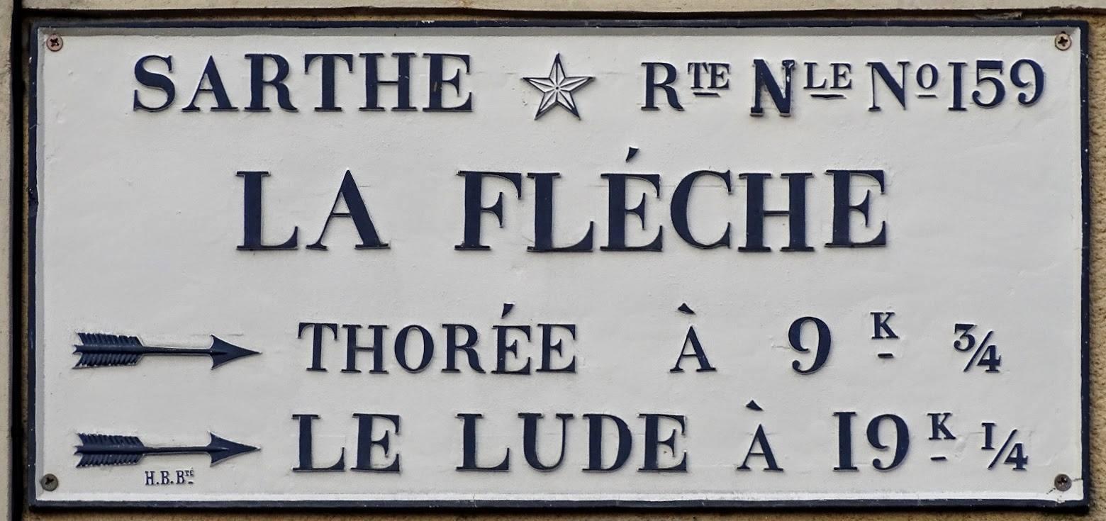 La Flèche, avenue d'Estournelles de Constant - Plaque de cocher - La Flèche - Thorée - Le Lude (Véronique Foulon-Légère)