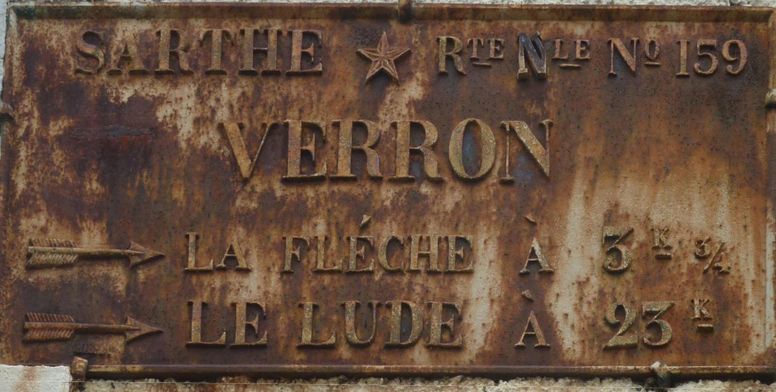 La Flèche, avenue de Verron - Plaque de cocher - La Flèche - Le Lude (Loïc Prémartin)